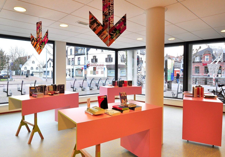 Bibliotheek Blerick.   Ontwerp gemaakt in dienst van Puur Sang Eindhoven