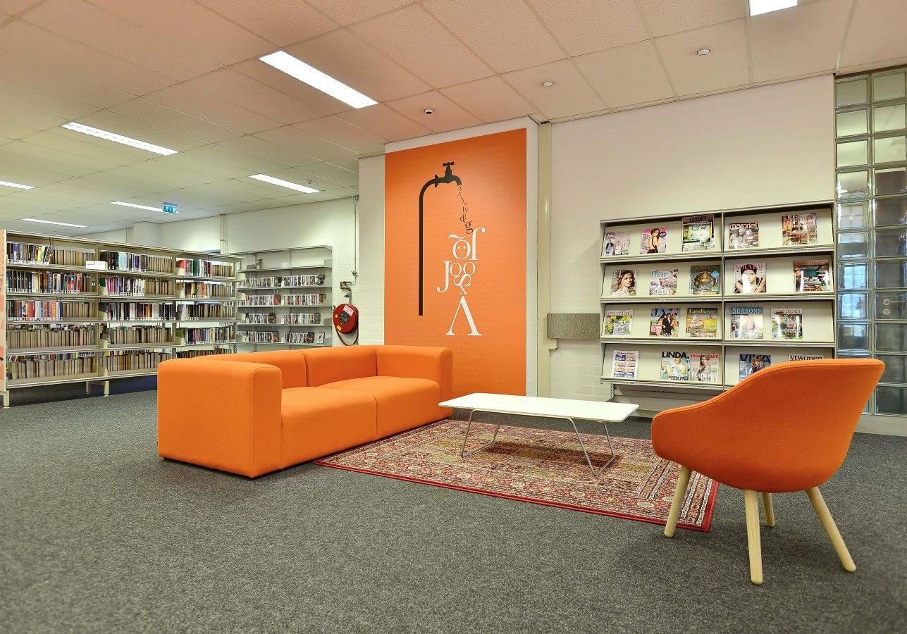 Bibliotheek Geldrop.   Ontwerp gemaakt in dienst van Puur Sang Eindhoven