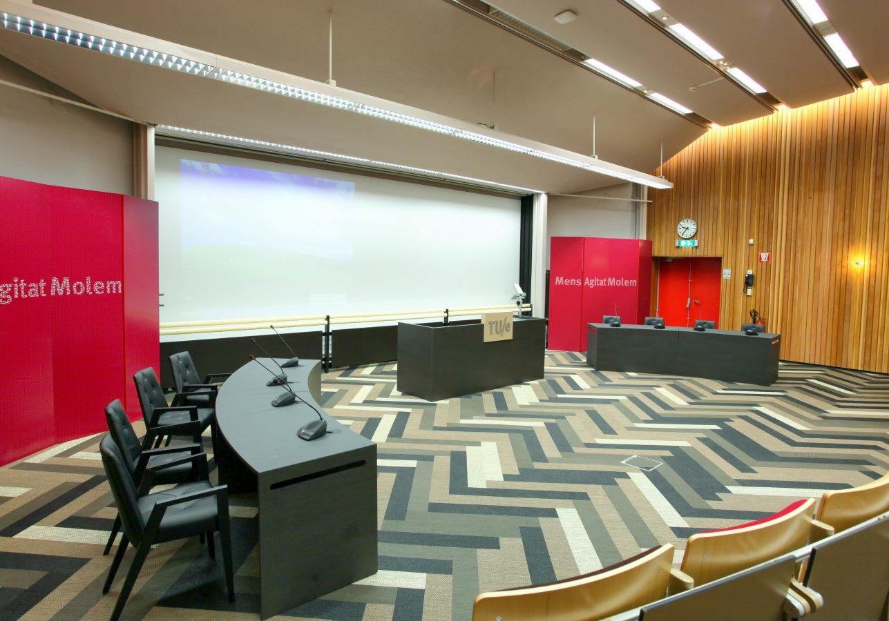 Collegezaal TUe. Ontwerp gemaakt in dienst van Puur Sang Eindhoven